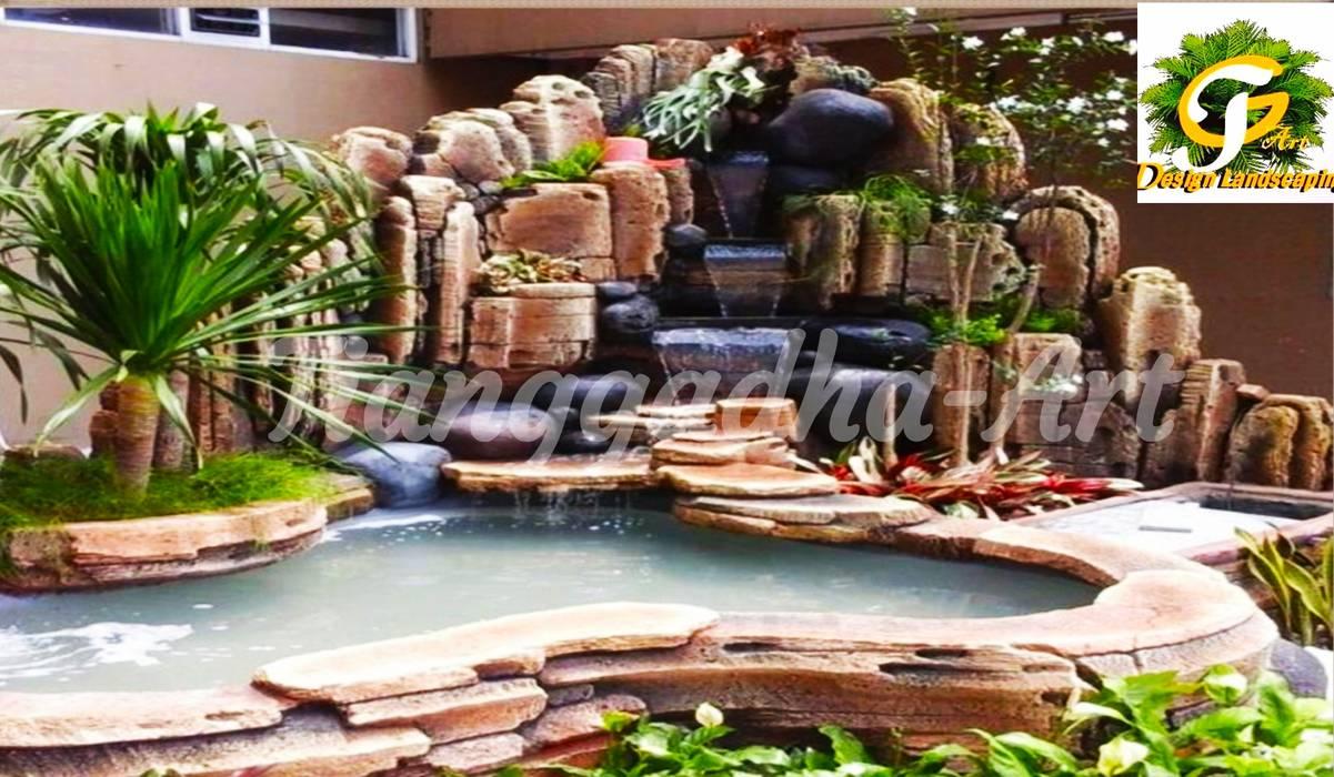 TEBING DEKORASI DAN KOLAM: Dinding oleh Tukang Taman Surabaya - Tianggadha-art,