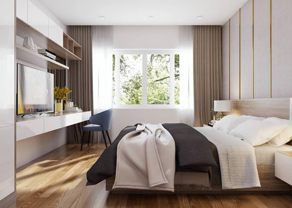 Phòng ngủ master đẳng cấp sang trọng:  Phòng ngủ by Công ty TNHH Nội Thất Mạnh Hệ,