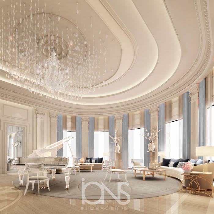 Grand Piano Room Design Livings de estilo clásico de IONS DESIGN Clásico Mármol