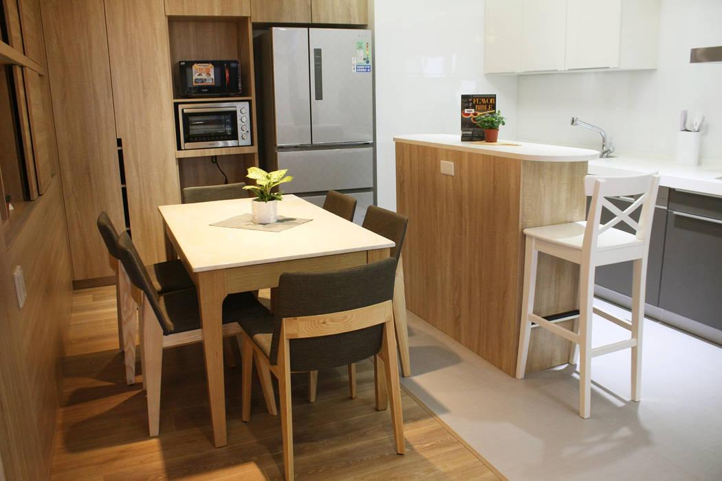餐廳/廚房 根據 圓方空間設計 現代風 合板