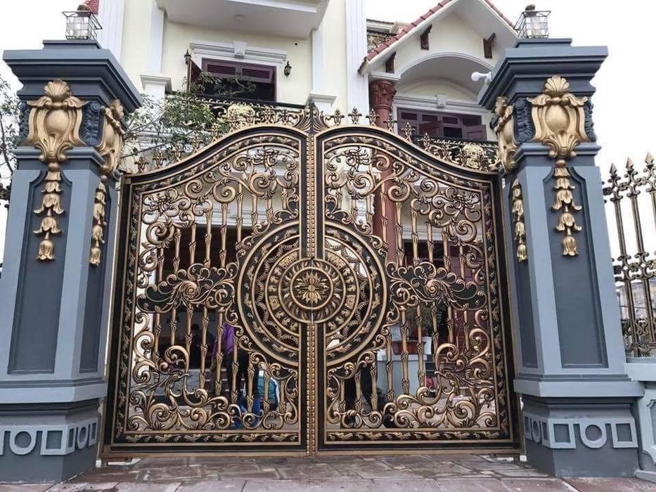 Puertas principales de estilo  por CÔNG TY CỔ PHẦN SẢN XUẤT HOÀNG GIA HÀ NỘI, Asiático