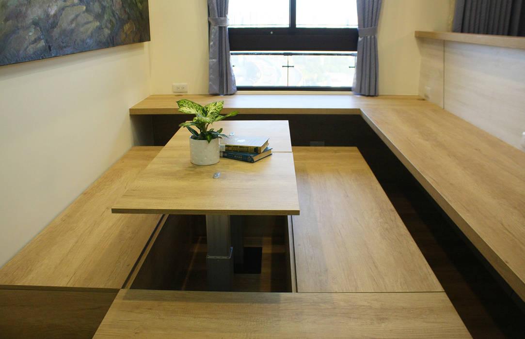 ห้องทำงาน/อ่านหนังสือ โดย 圓方空間設計, โมเดิร์น แผ่นไม้อัด Plywood