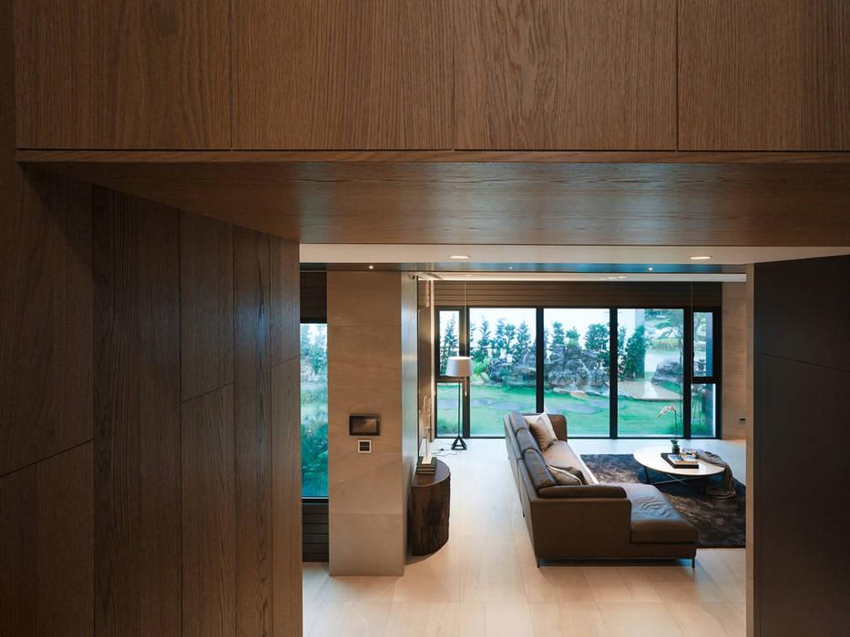 誠泰大院_框景之家 形構設計 Morpho-Design 现代客厅設計點子、靈感 & 圖片