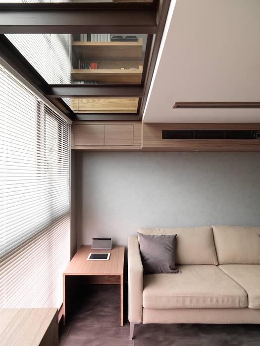 光透 现代客厅設計點子、靈感 & 圖片 根據 形構設計 Morpho-Design 現代風