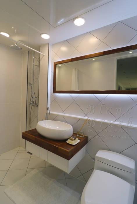 분당구 금곡동 분당하우스토리 63평 아파트 인테리어 모던스타일 욕실 by 블랑브러쉬 모던