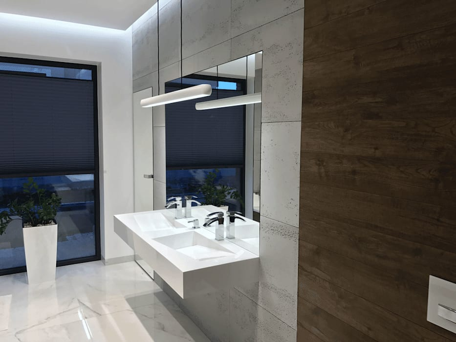Beton Architektoniczny W łazience I Umywalka Na Wymiar Styl