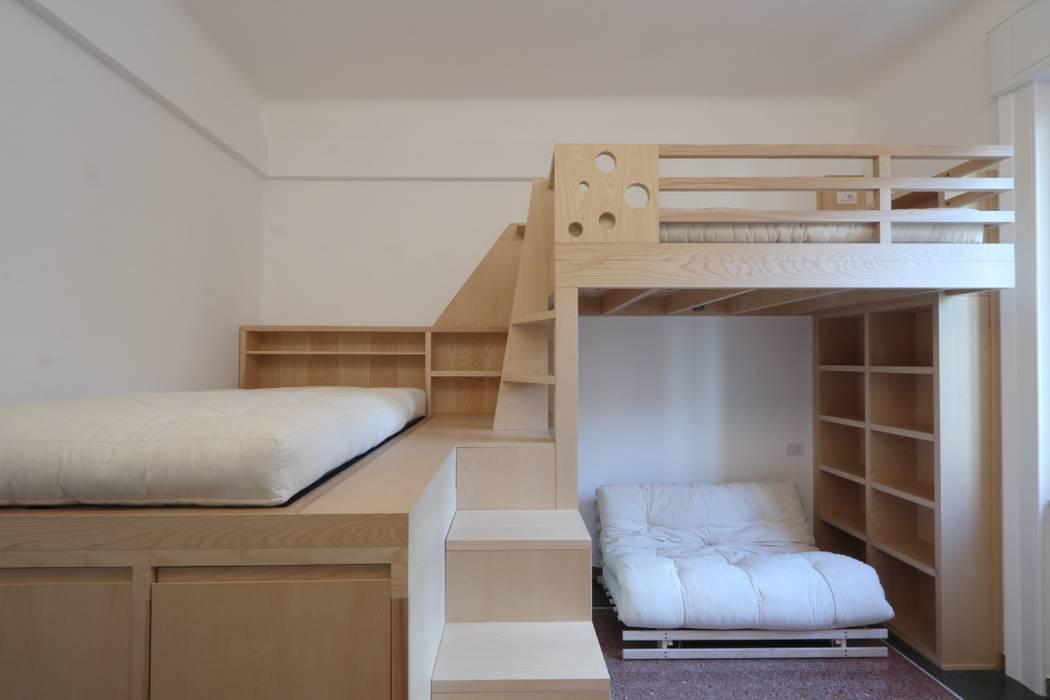 vista della stanza Daniele Arcomano Camera da letto moderna Legno