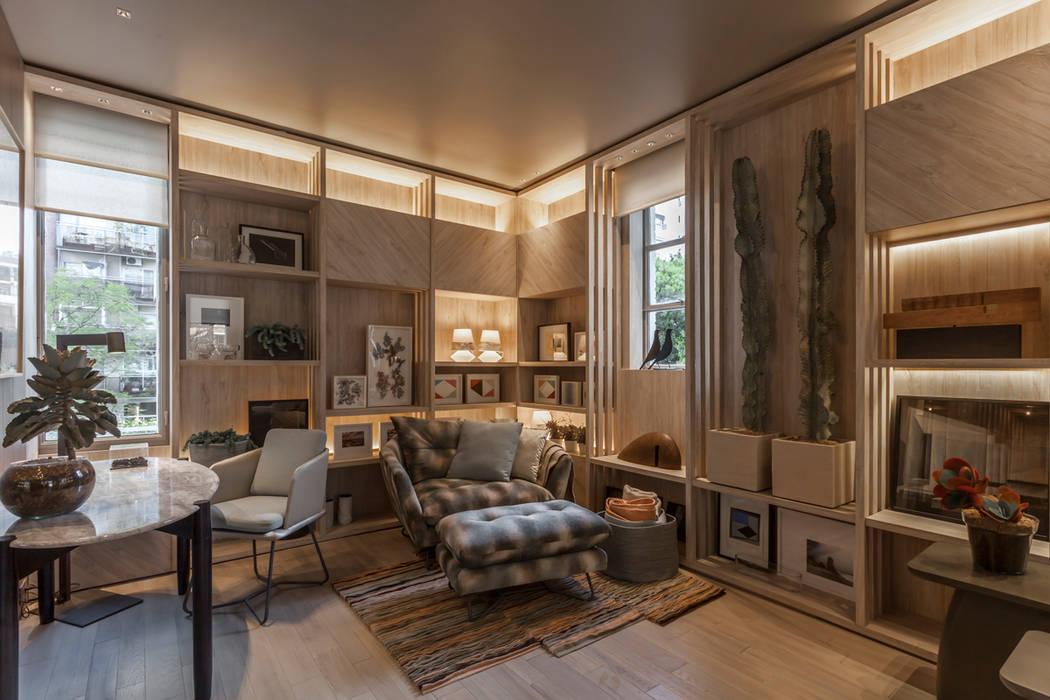 Casa FOA 2017 : Salas multimedia de estilo  por Estudio Viviana Melamed,