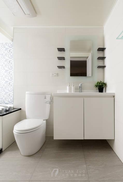 WANG House 現代浴室設計點子、靈感&圖片 根據 元作空間設計 現代風