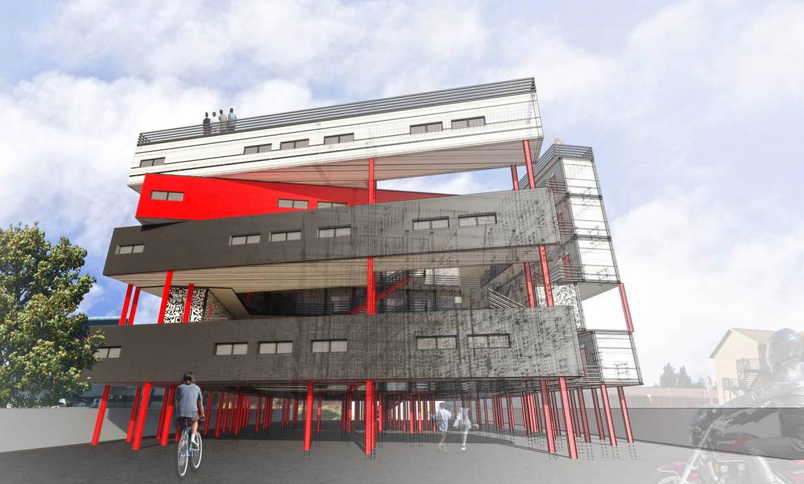 Hôtels de style  par A4AC Architects, Moderne Fer / Acier