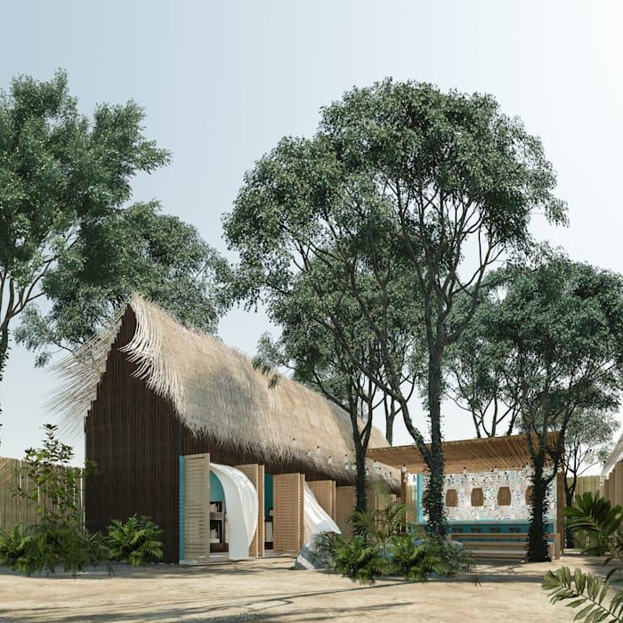 Chalets de estilo  por Obed Clemente Arquitectura,