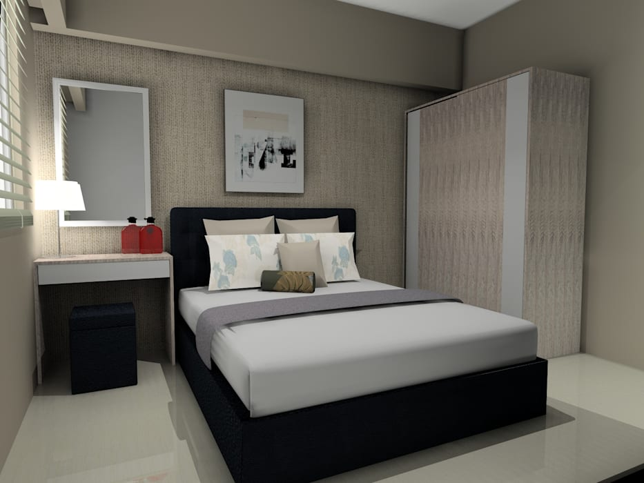Interior 1 Bedroom Bandara City Apartment:  oleh PT. PANCAR KREASI ABADI,