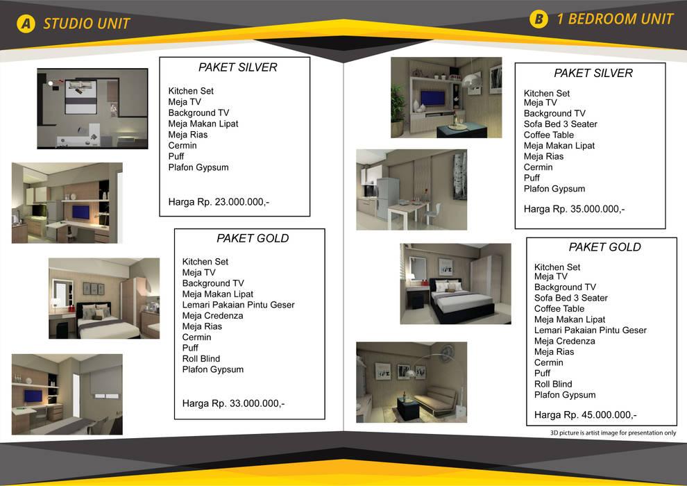 Interior 1 Bedroom Bandara City Apartment Oleh PT. PANCAR KREASI ABADI