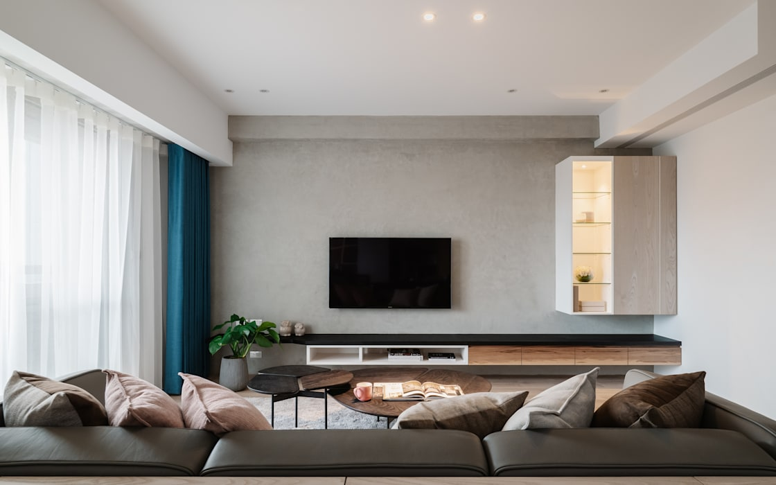 Living room by 築川設計, Scandinavian