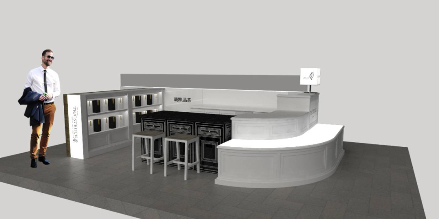 此空間比較小,因此矮台高度設計為40公分: 現代  by SECONDstudio, 現代風