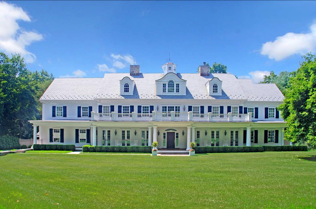 Custom Colonial Home, Westport CT by DeMotte Architects Colonial style houses by DeMotte Architects, P.C. Colonial