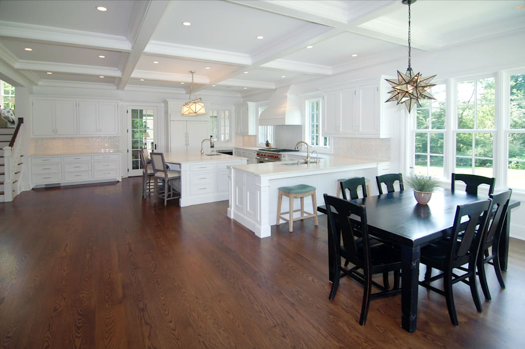 Custom Colonial Home, Westport CT by DeMotte Architects 根據 DeMotte Architects, P.C. 殖民地風