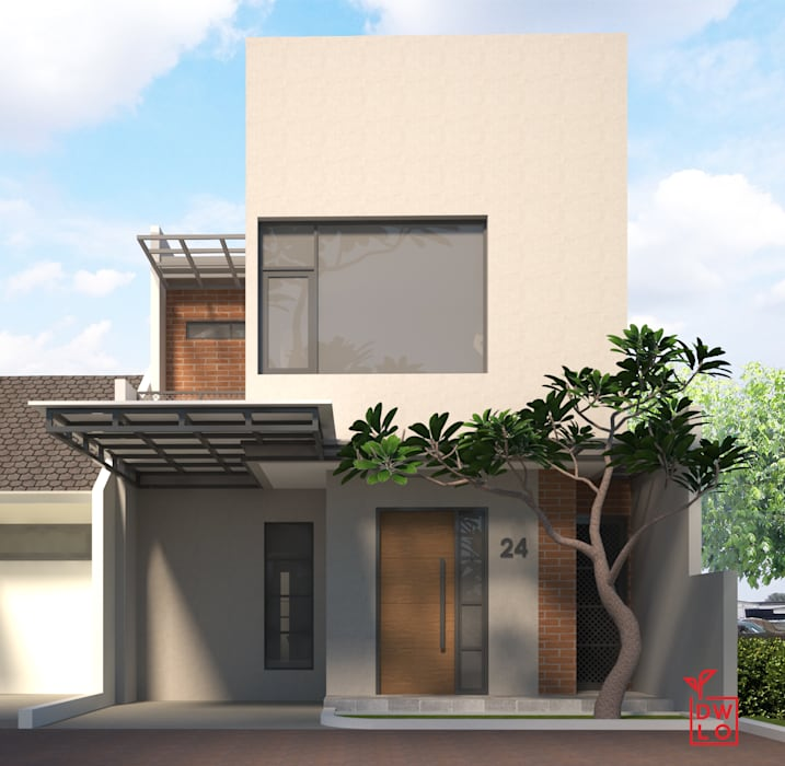 D&A House Cimanggis:  Rumah by Dwello Design