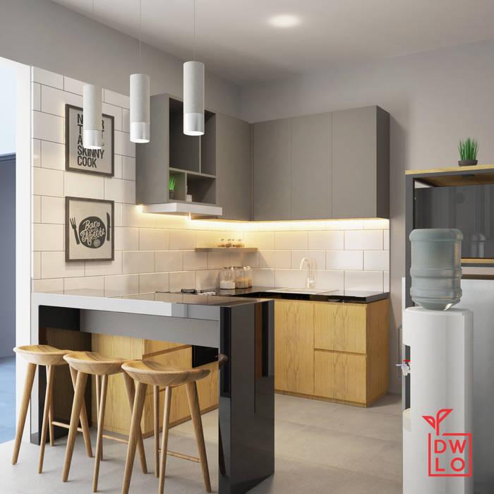 D&A House Cimanggis Dapur Gaya Industrial Oleh Dwello Design Industrial Kayu Lapis