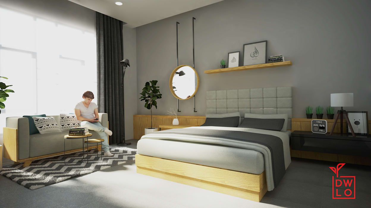 D&A House Cimanggis: Kamar Tidur oleh Dwello Design,