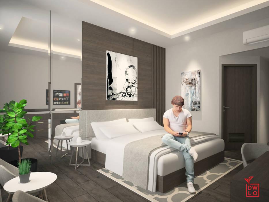 Sangkan Resort Aquapark: Kamar Tidur oleh Dwello Design,