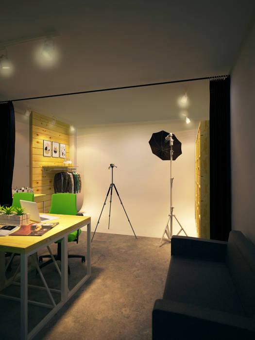 Office space karawaci Ruang Studi/Kantor Gaya Industrial Oleh Dwello Design Industrial