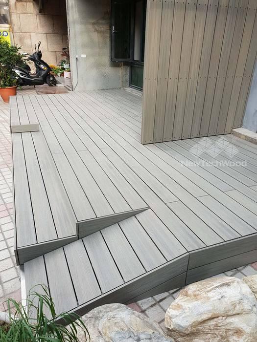 Casas multifamiliares de estilo  por 新綠境實業有限公司, Escandinavo Compuestos de madera y plástico