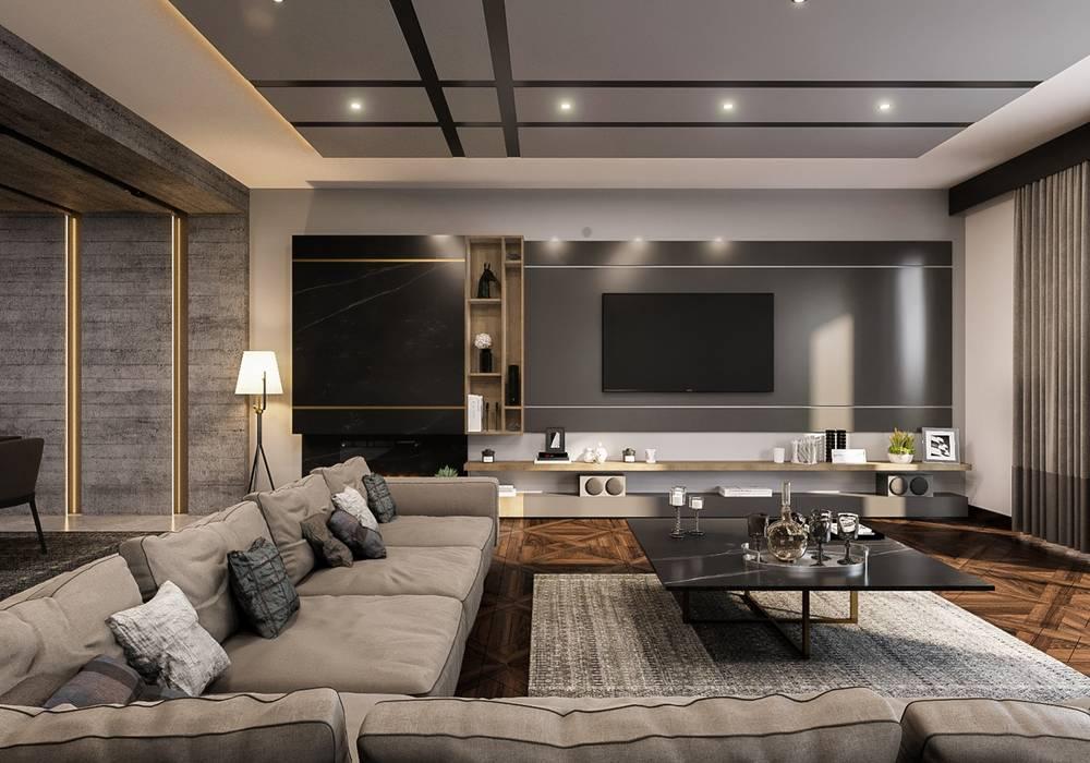 ANTE MİMARLIK  – Oturma odası:  tarz Oturma Odası,