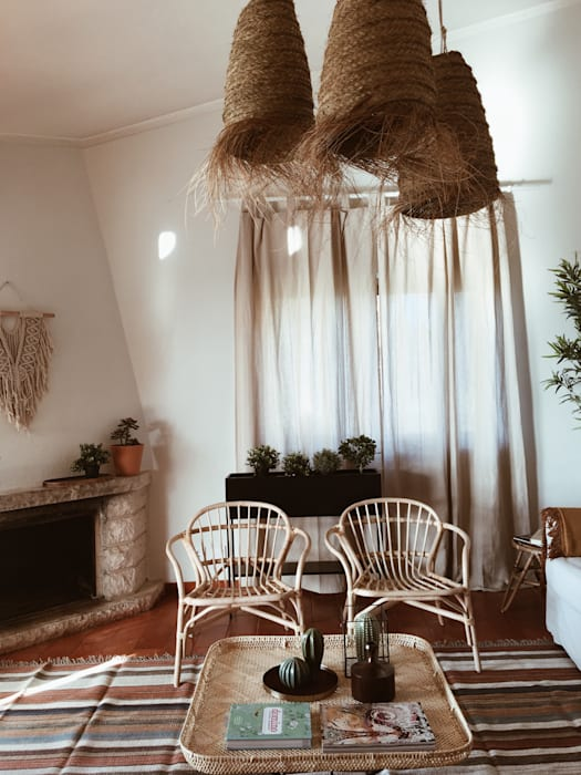 Sala de Estar: Salas de estar  por Rafaela Fraga Brás Design de Interiores & Homestyling