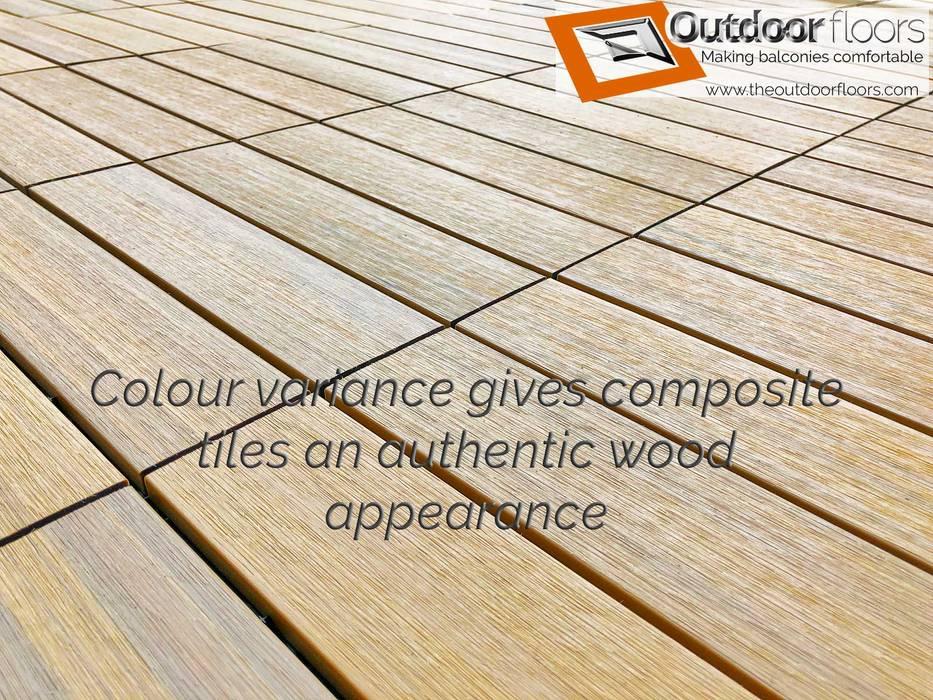 Balcón de estilo  por Outdoor Floors Toronto, Rural Compuestos de madera y plástico