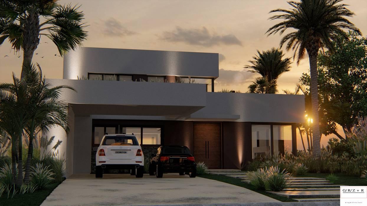 PROYECTO EN LA VIRAZON - NORDELTA de Rocha & Figueroa Bunge arquitectos Minimalista Ladrillos
