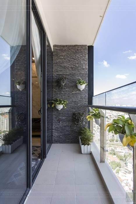 THỰC TẾ CĂN HỘ VINHOMES GOLDEN RIVER - 3-Bedroom Apartment Hành lang, sảnh & cầu thang phong cách hiện đại bởi ICON INTERIOR Hiện đại