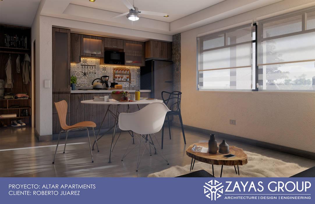 Cocina/Comedor: Cocinas pequeñas de estilo  por Zayas Group