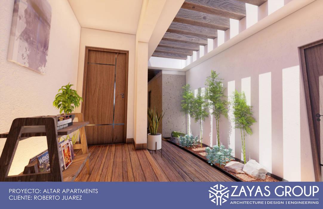 Vestibulo recepcion: Estudios y oficinas de estilo  por Zayas Group