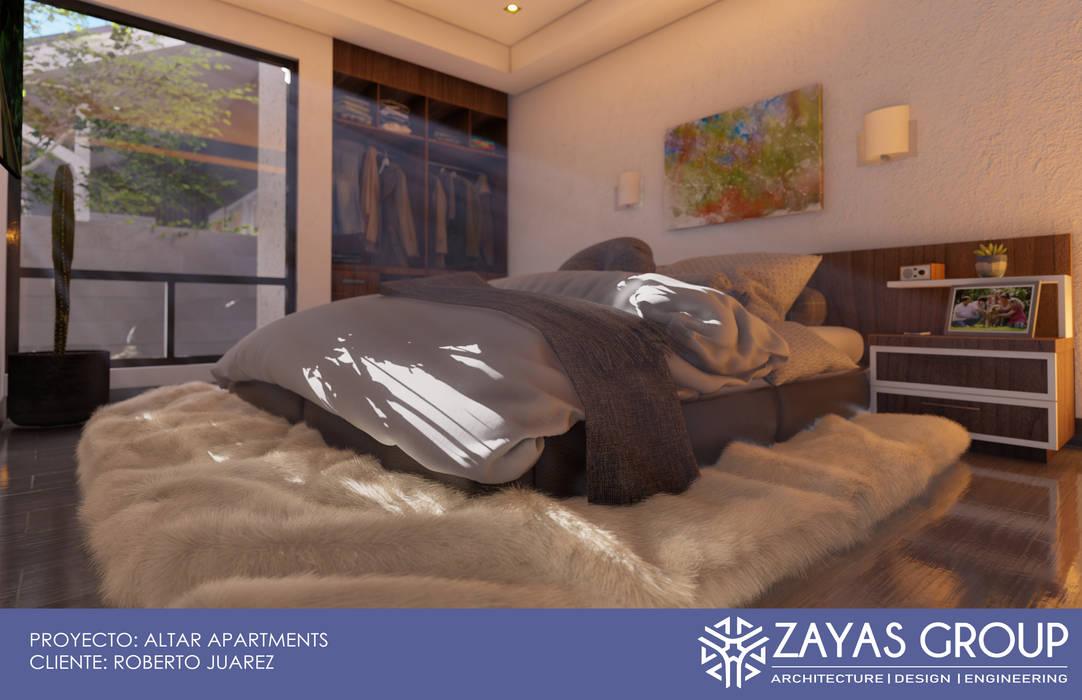 Recamara tipo: Recámaras de estilo  por Zayas Group