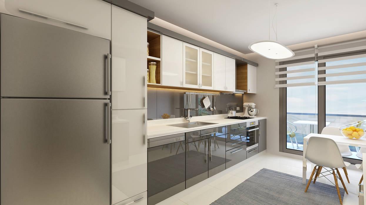 Not Mimarlık – İzpek İnşaat | My Vista Smart:  tarz Mutfak