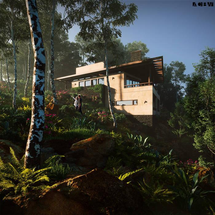 Casas de campo de estilo  por ADRIAN CARDENAS BUILDING WORKSHOP,