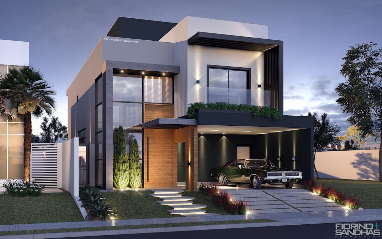 Casas modernas de Fiorino + Sandhas Arquitetos Moderno