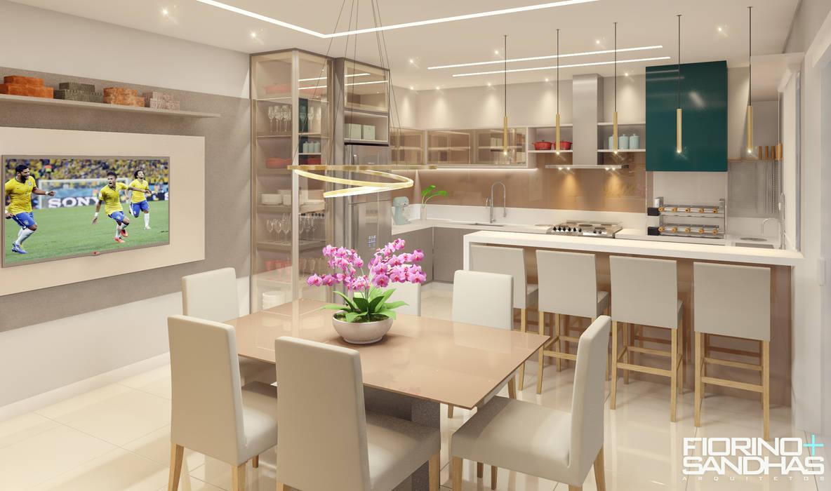 Espaço Gourmet Cozinhas modernas por Fiorino + Sandhas Arquitetos Moderno