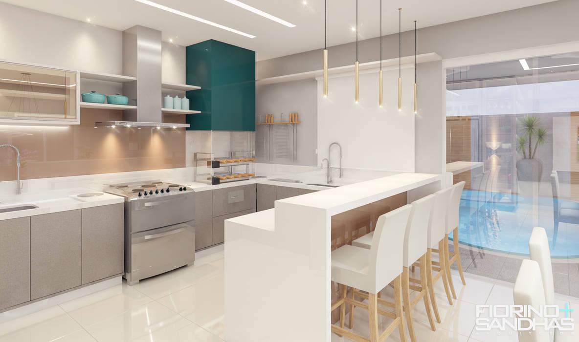 Espaço Gourmet: Cozinhas  por Fiorino + Sandhas Arquitetos,Moderno