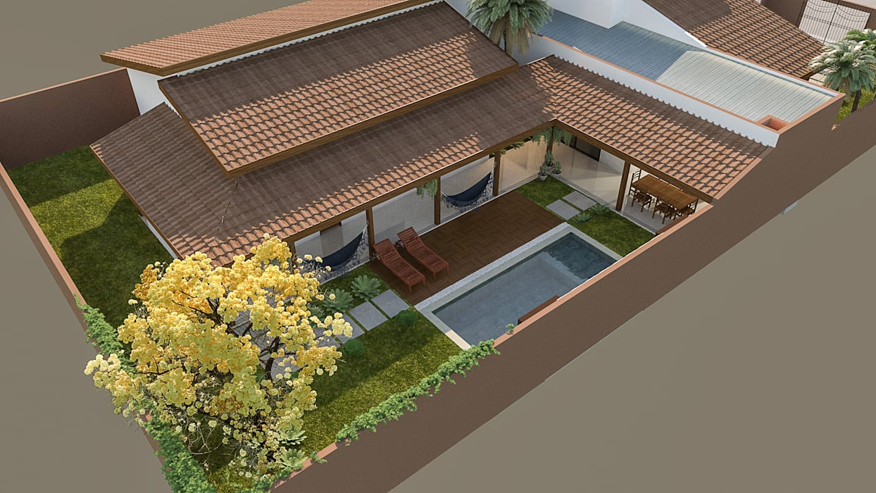 Casas de estilo rústico de Fiorino + Sandhas Arquitetos Rústico