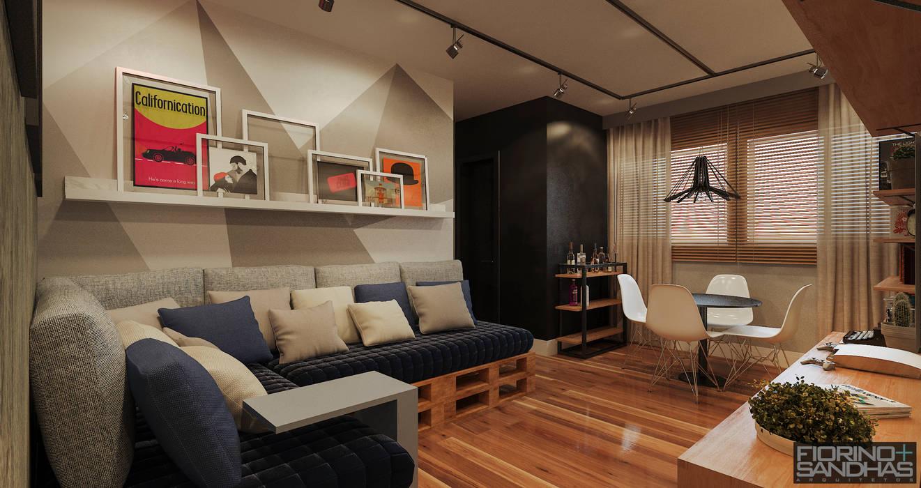 客廳 by Fiorino + Sandhas Arquitetos, 工業風