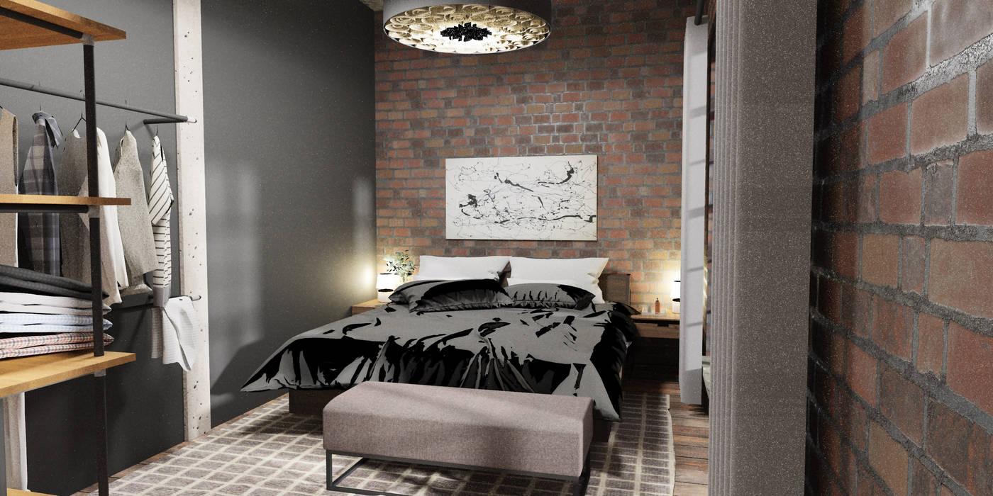 Schlafzimmer industrieloft industriale schlafzimmer von der ...
