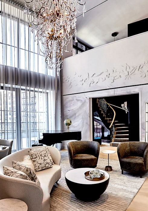 Living Room - 86th Street New York Modern Living Room by Joe Ginsberg Design Modern