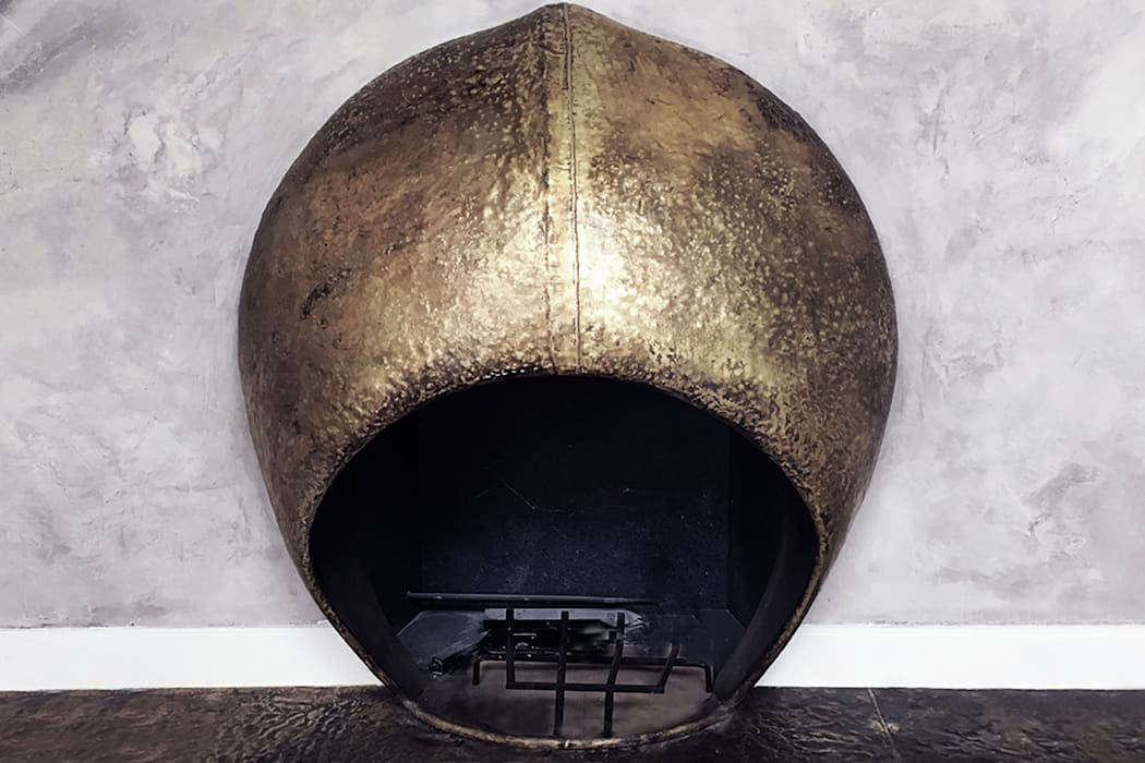 Custom Sculptural Fireplace Living Room - 86th Street New York Modern Living Room by Joe Ginsberg Design Modern