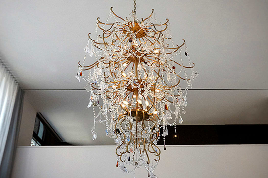 Custom Chandelier - Living Room - 86th Street New York Modern Living Room by Joe Ginsberg Design Modern