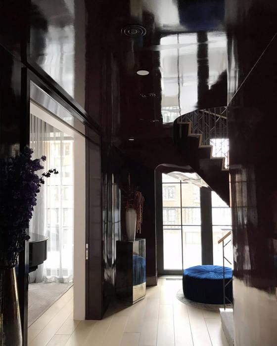 Hallway - 86th Street New York Modern Corridor, Hallway and Staircase by Joe Ginsberg Design Modern