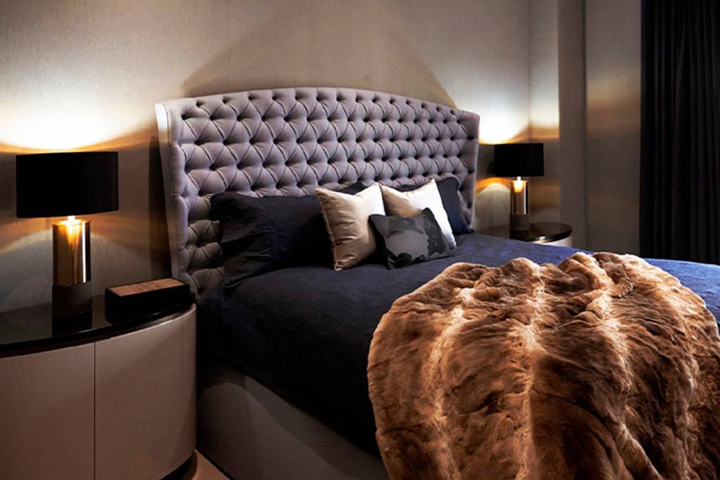 Master Bedroom - 86th Street New York Modern Bedroom by Joe Ginsberg Design Modern