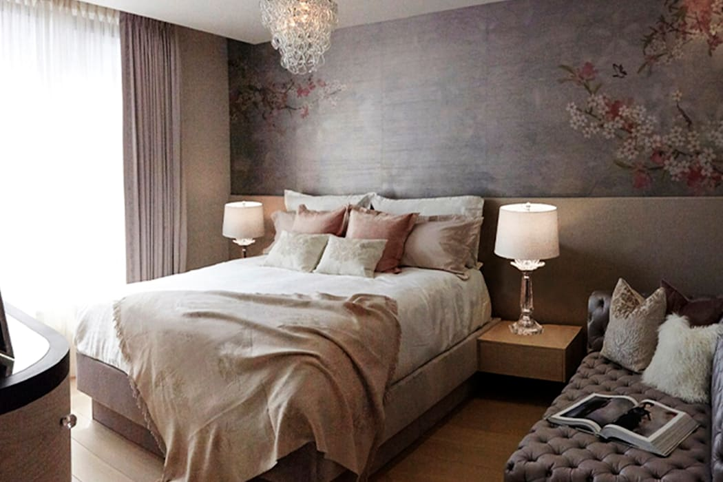 Master Bedroom - 86th Street New York Modern Bedroom by Joe Ginsberg Design Modern