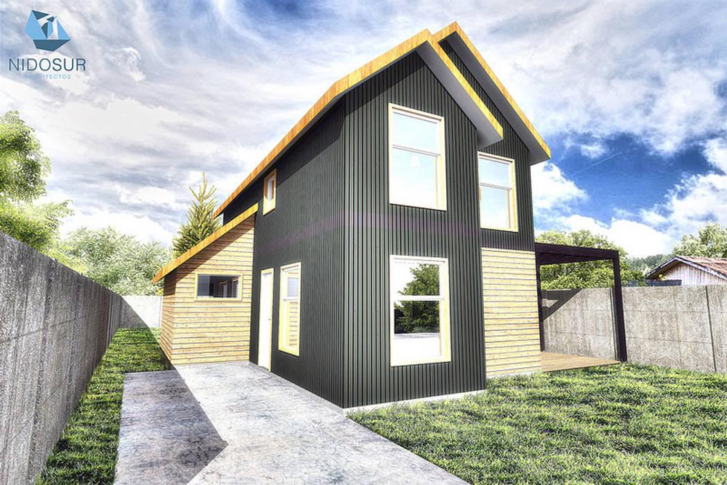 Fachada: Casas de estilo  por NidoSur Arquitectos - Valdivia